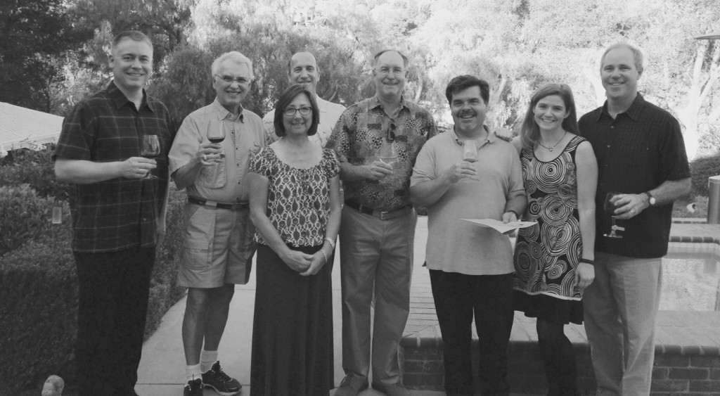 The Vintner's Board of the Red Door Vineyard Brian, John, Stacey, Vince, Steve, Jamie, Jennifer, John